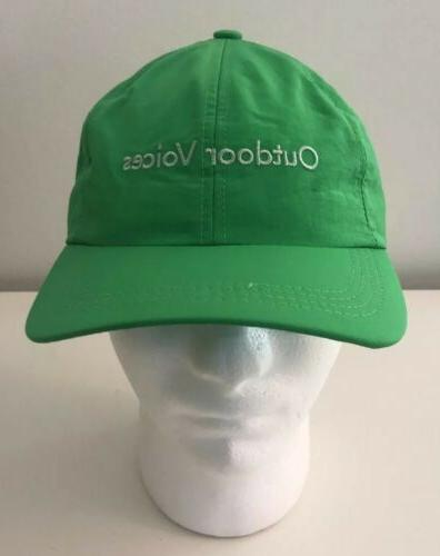 baseball cap dad hat green nylon aspen