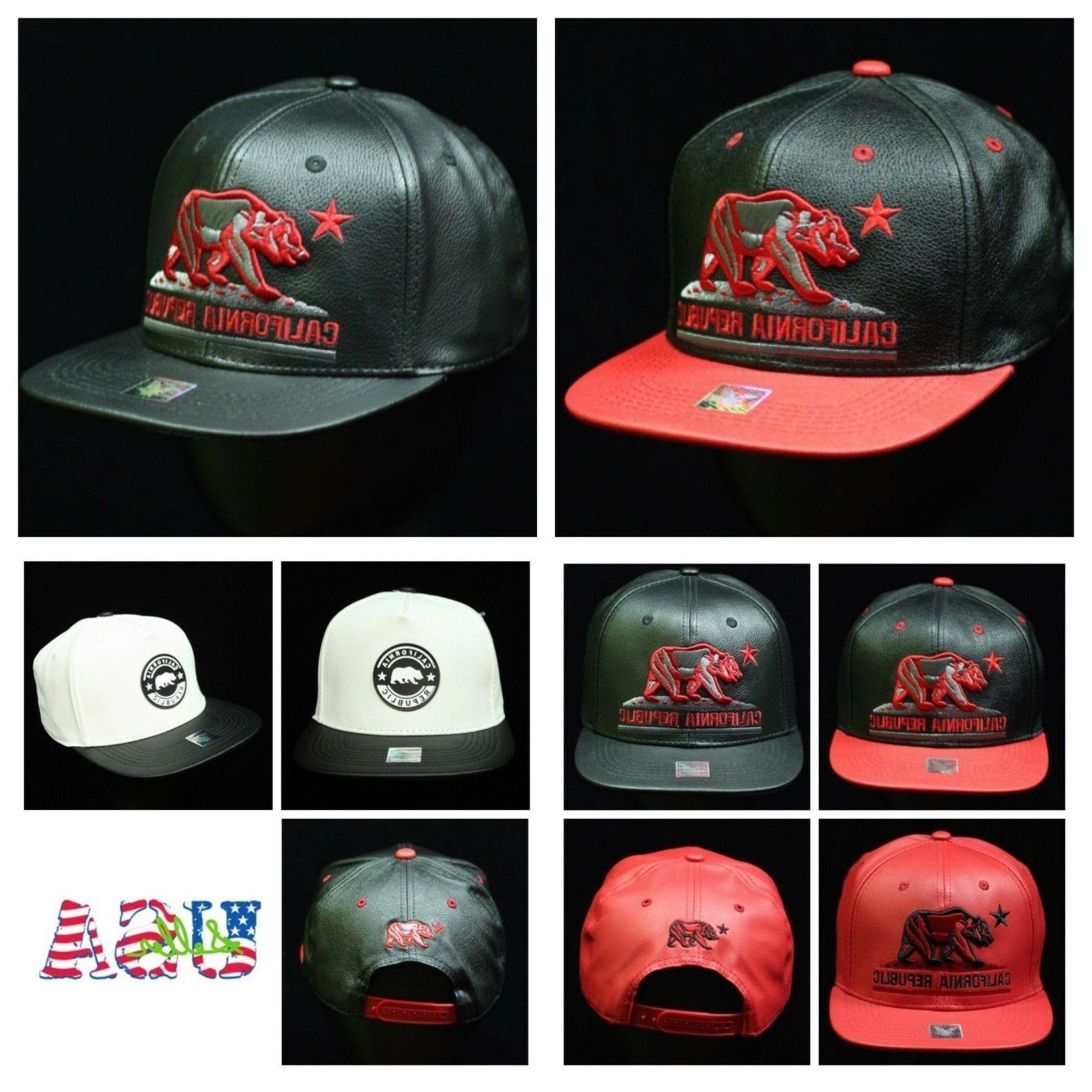 Baseball Cap Fashion Dad Hat Flat Bill Snapback CALI Bear Hi