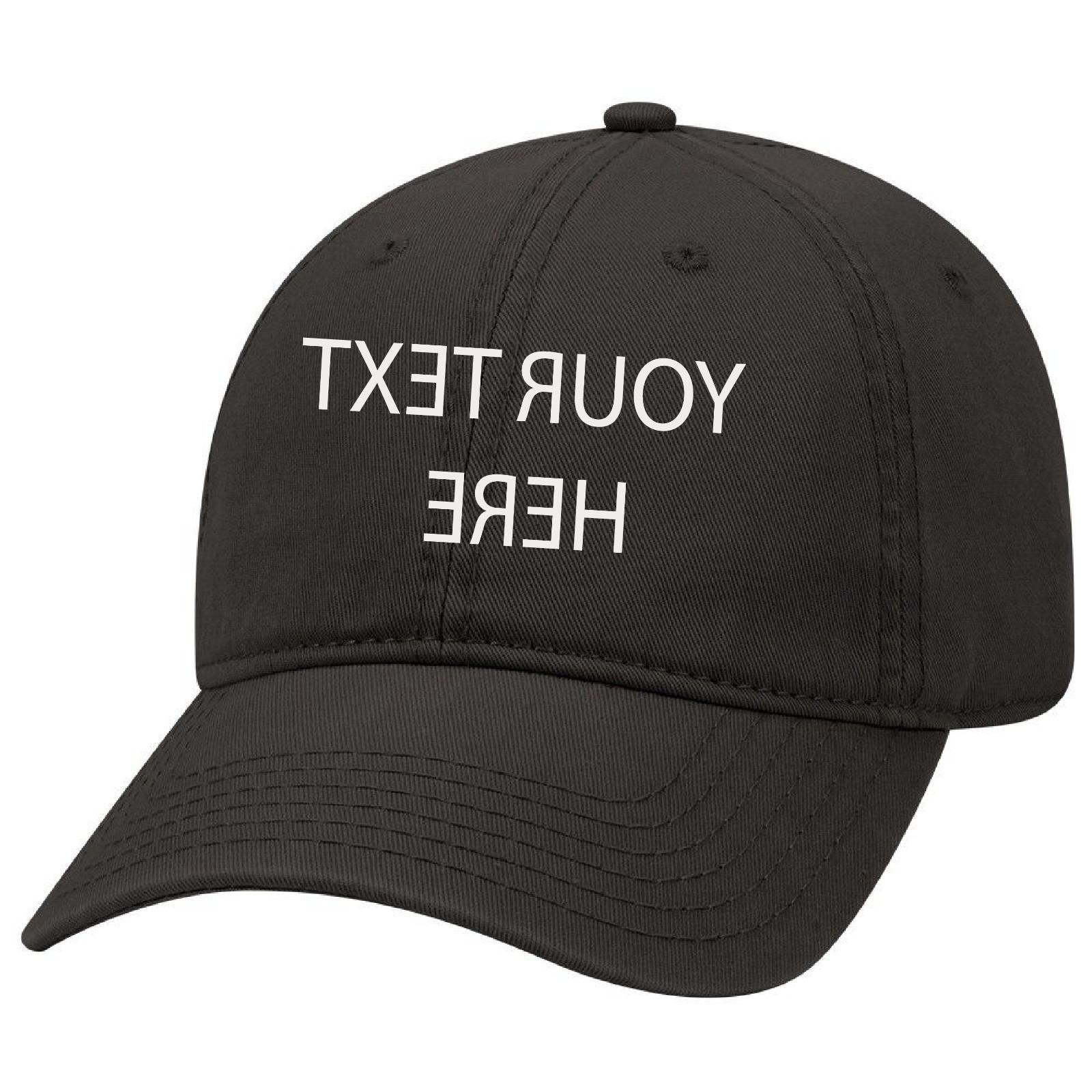 black dad cap customized and personalized embroidery