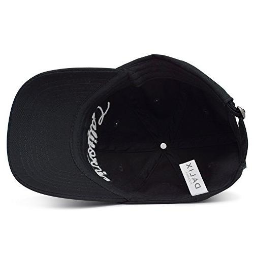 DALIX California Baseball Cap Dad Hat Mens Womens Caps Black