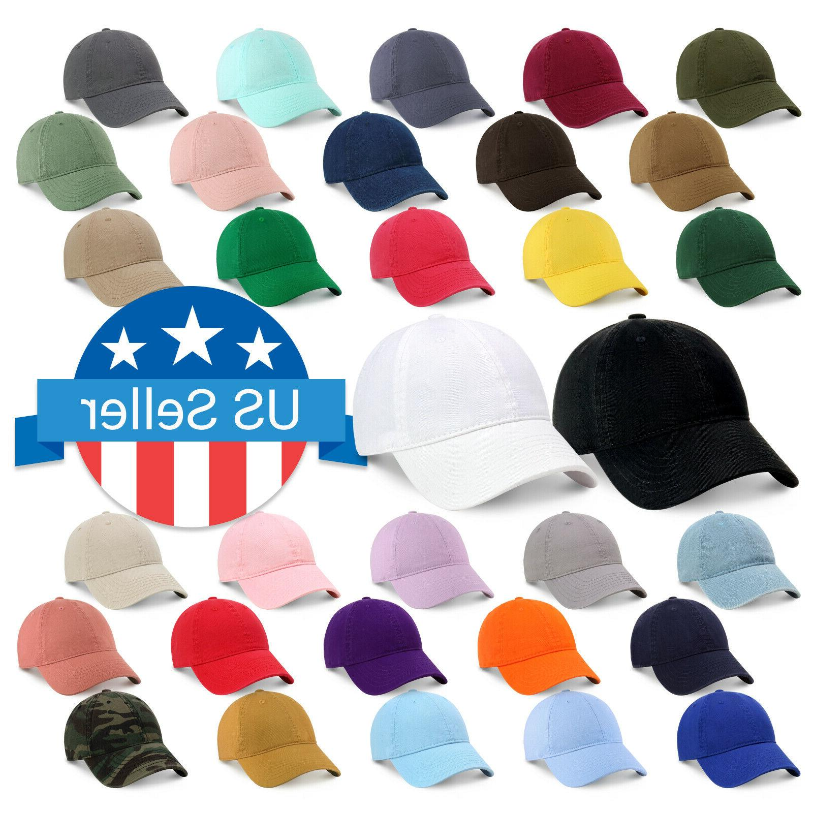 cotton dad hat adjustable blank cap low