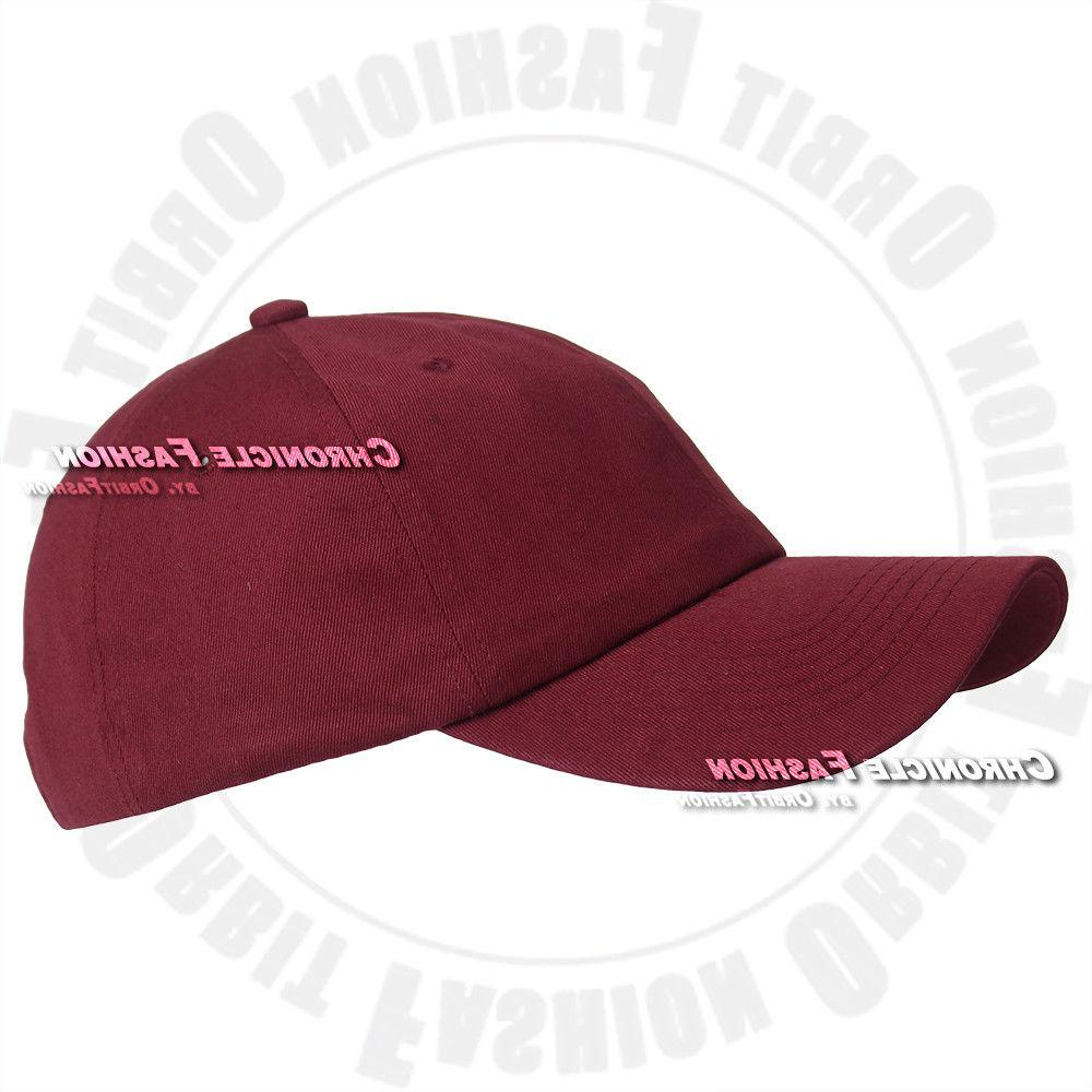 Cotton Washed Polo Style Adjustable Hats