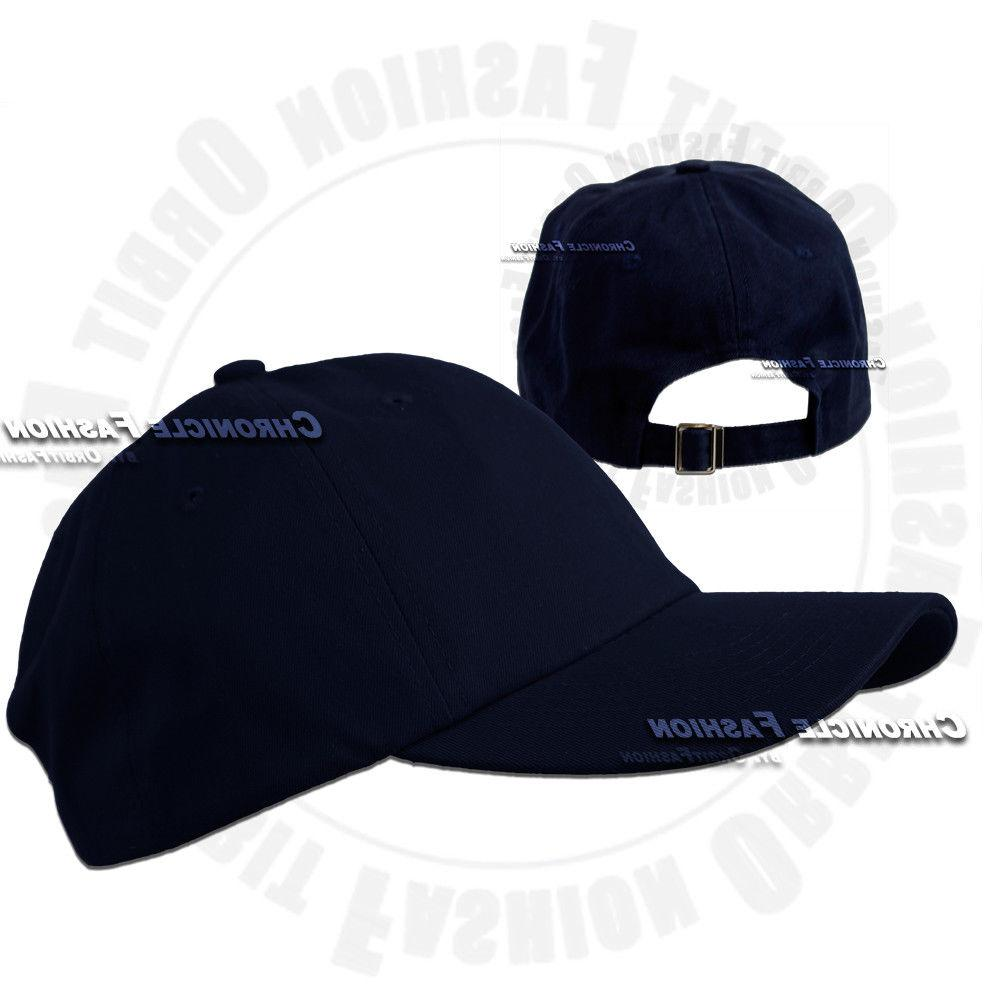 Cotton Washed Polo Style Plain Adjustable Hats