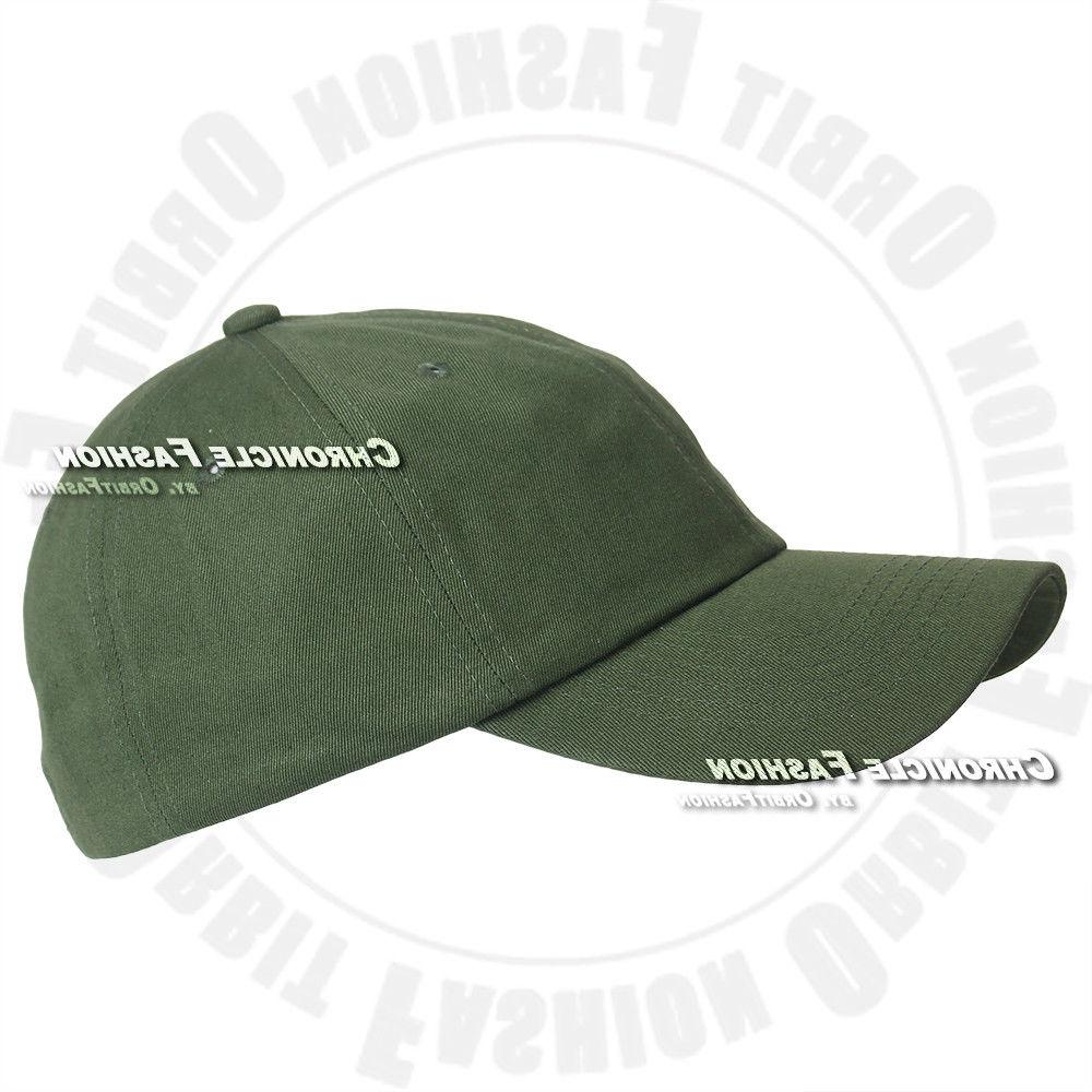 Baseball Cap Washed Cotton Polo Plain Solid Hats