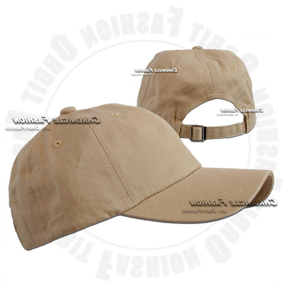 Cotton Hat Baseball Washed Polo Adjustable Solid Dad
