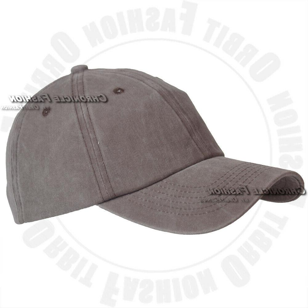 Washed Hat Cap Strapback Style Solid