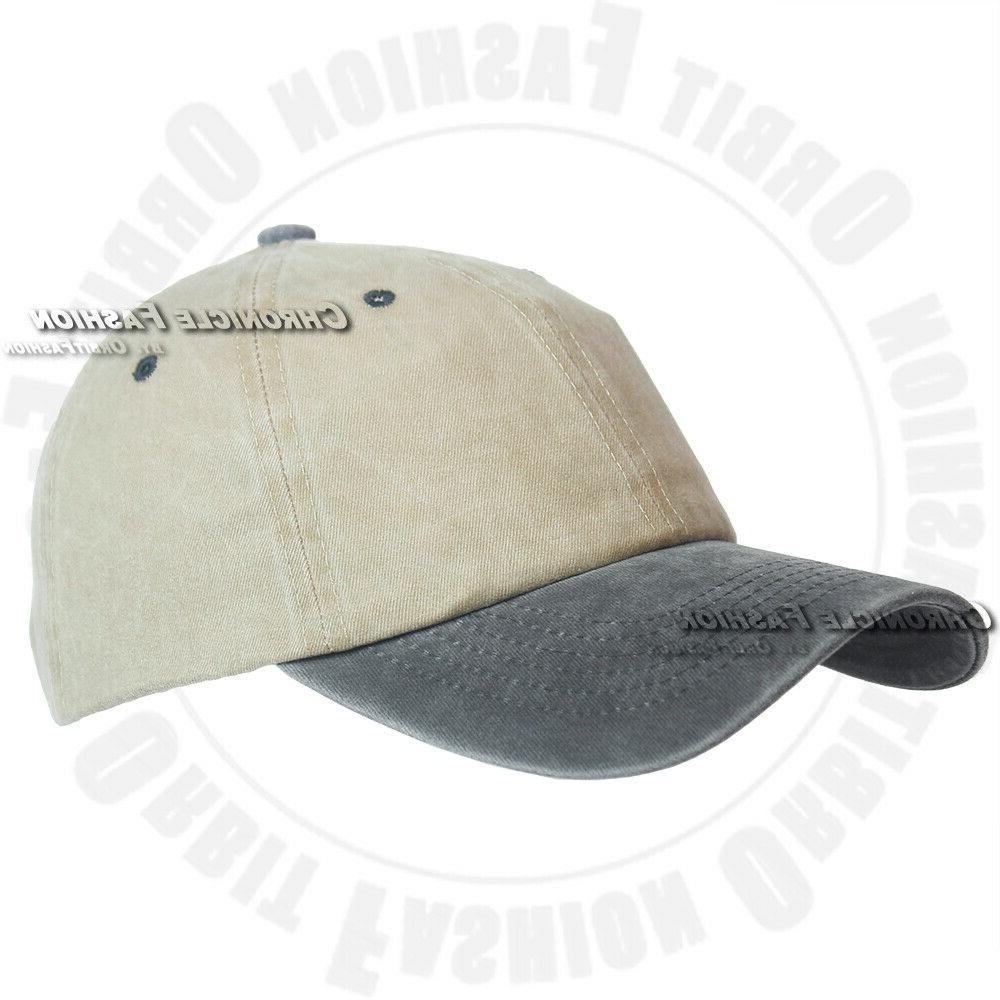 Washed Cap Strapback Polo Style Dad Cap