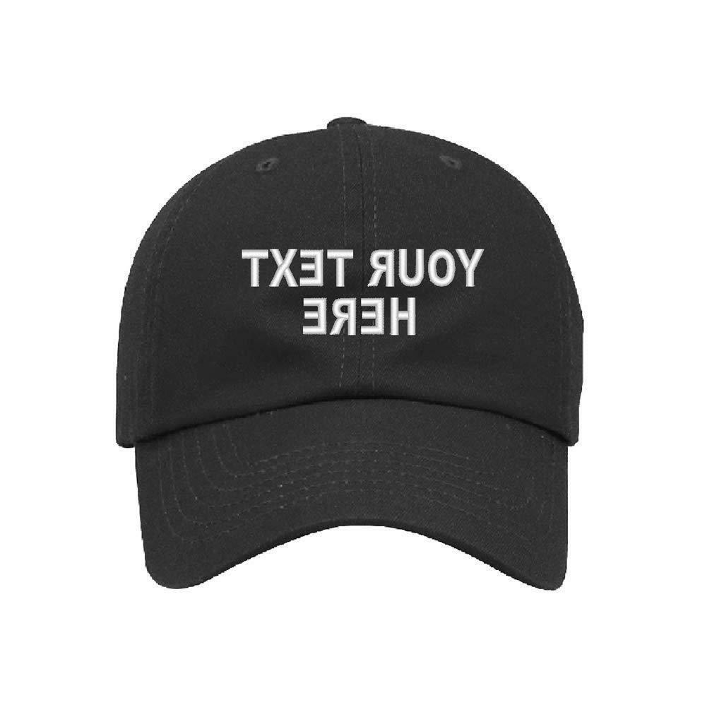 custom personalized embroidered text on dad hats