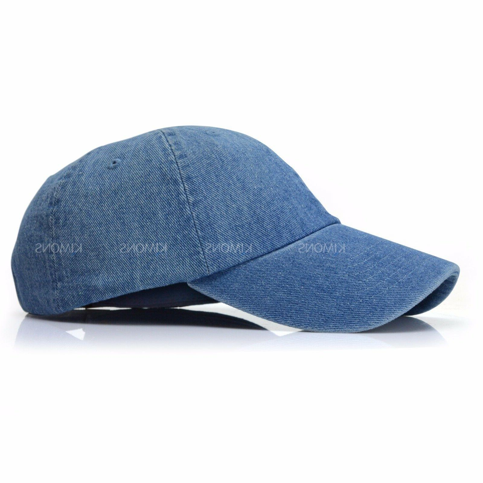 Dyed Plain Style Ball Cap 2