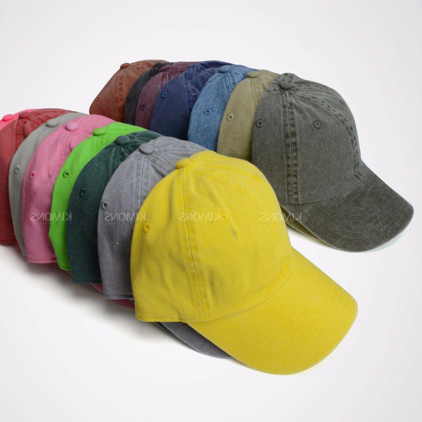 Dyed New Plain Style Baseball Ball Hat Dad 2 Two