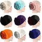 Elastic Women Ladies Flower Hat Turban Chemo Cancer Hair Los