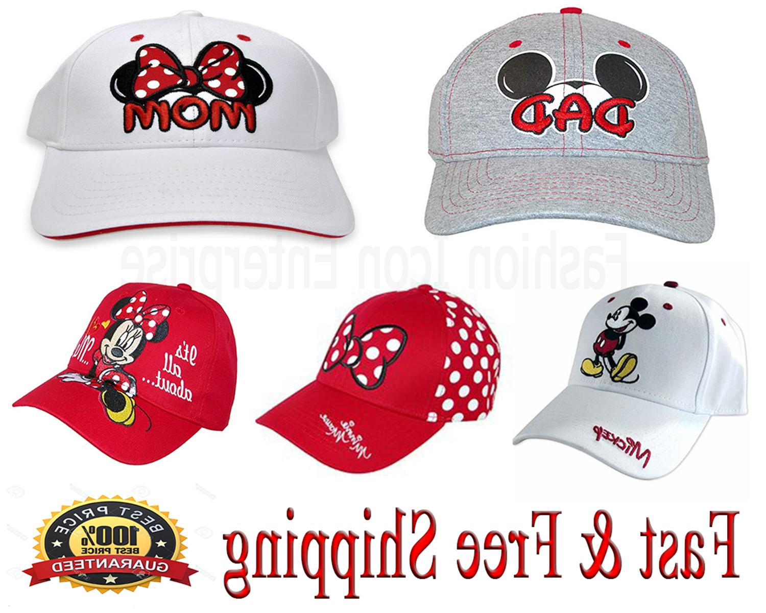 family hats collection mickey and minnie baseball