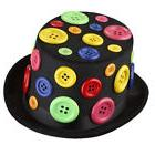 Adults Fancy Multicolored Party Hat with Buttons By Dress Up