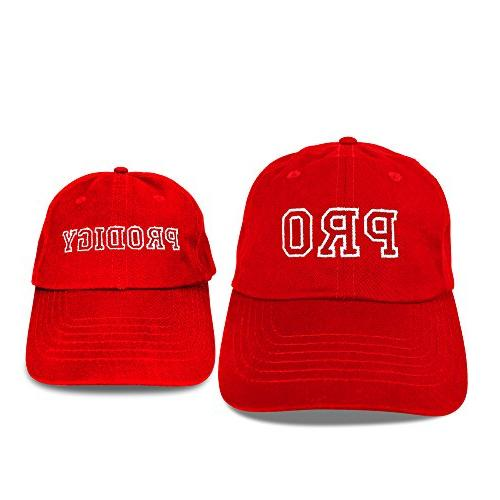 DALIX Hats Dad and Caps Embroidered Pro Red
