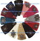 Wholesale Flower Applique HEADWEAR Crochet Knit Headwrap Hea