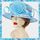 Blue Flower Leaf Lace Multi Color Sinamay Feather Kentucky D