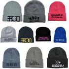 Funny Embroidered Letter Knit Beanie Warm Cap  For Men And W