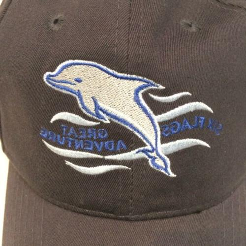 Six Flags Dolphin Vtg Dad Cap Embroidered