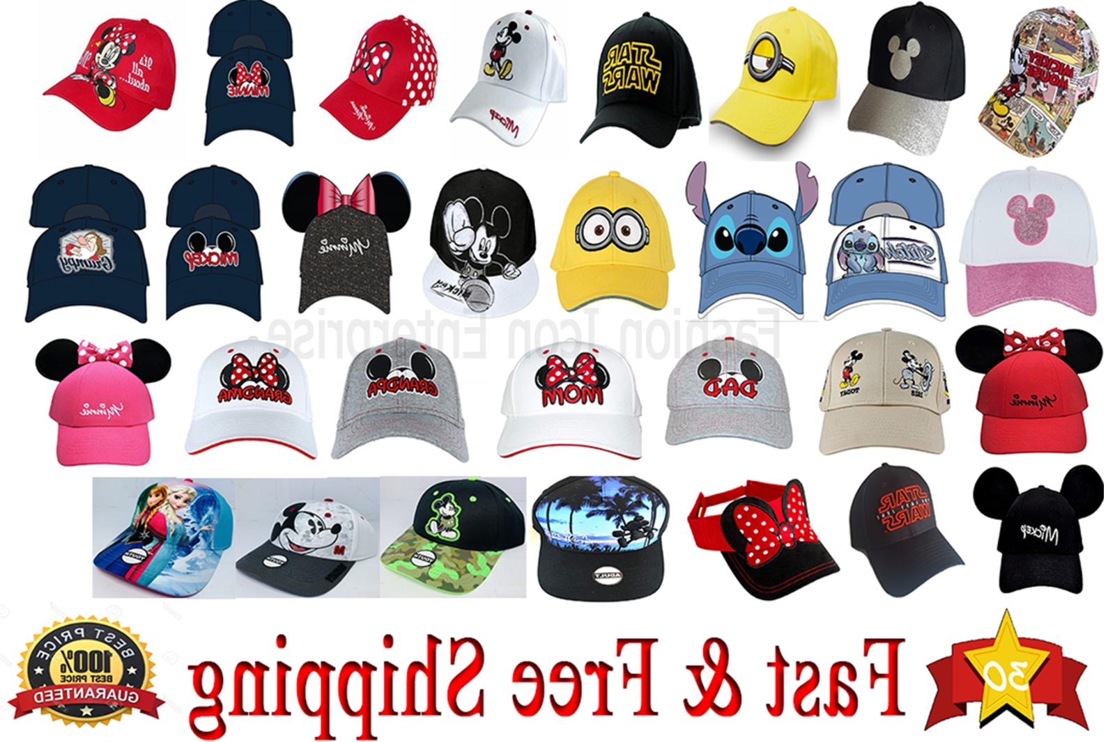 hats collection mickey and minnie hat star
