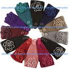 Wholesale 12PC HEADWEAR Crochet Flower Rosette Knit Headwrap