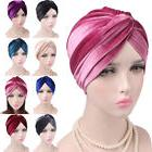 Woman Indian Style Velvet Turban Hat Bandana Chemo Head Wrap