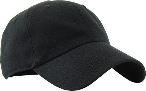 kb low blk classic cotton dad hat