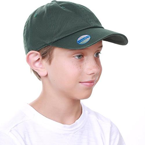 KBC-13LOW HGN Girls Hats Washed Profile Cotton and Plain Cap Unisex Headwear
