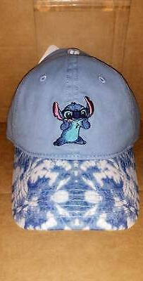 DISNEY LILO AND STITCH BLUE DENIM DAD HAT NEW!