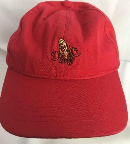 Disney Little Mermaid Sebastian Dad Hat Strapback Cap