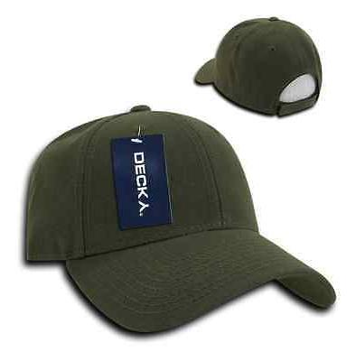 DECKY Low Crown Two Curved Bill 6 Panel Caps