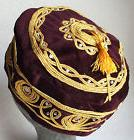 Maroon smoking cap Small discreet tassel NEW S M L XL 2XL 3X