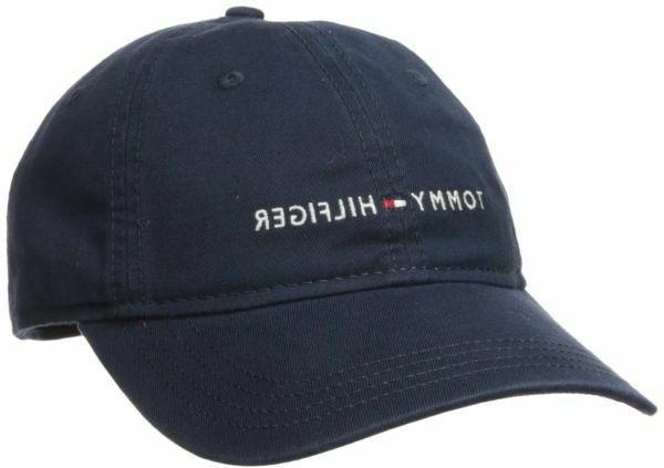 Tommy Hilfiger Men's Logo Dad Baseball Cap Navy One Size 100