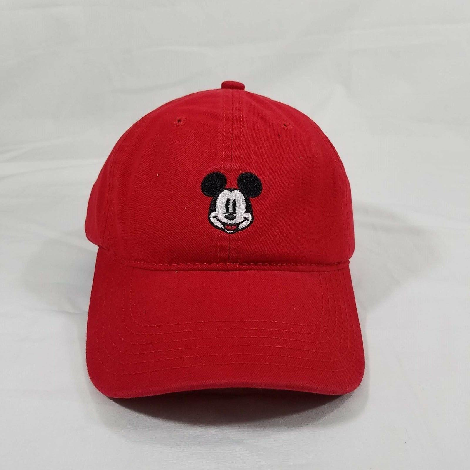 Disney Mickey Red Dad Embroidered One Adjustable Strap