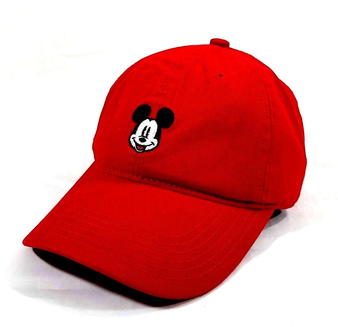 mickey mouse red dad hat nwt embroidered