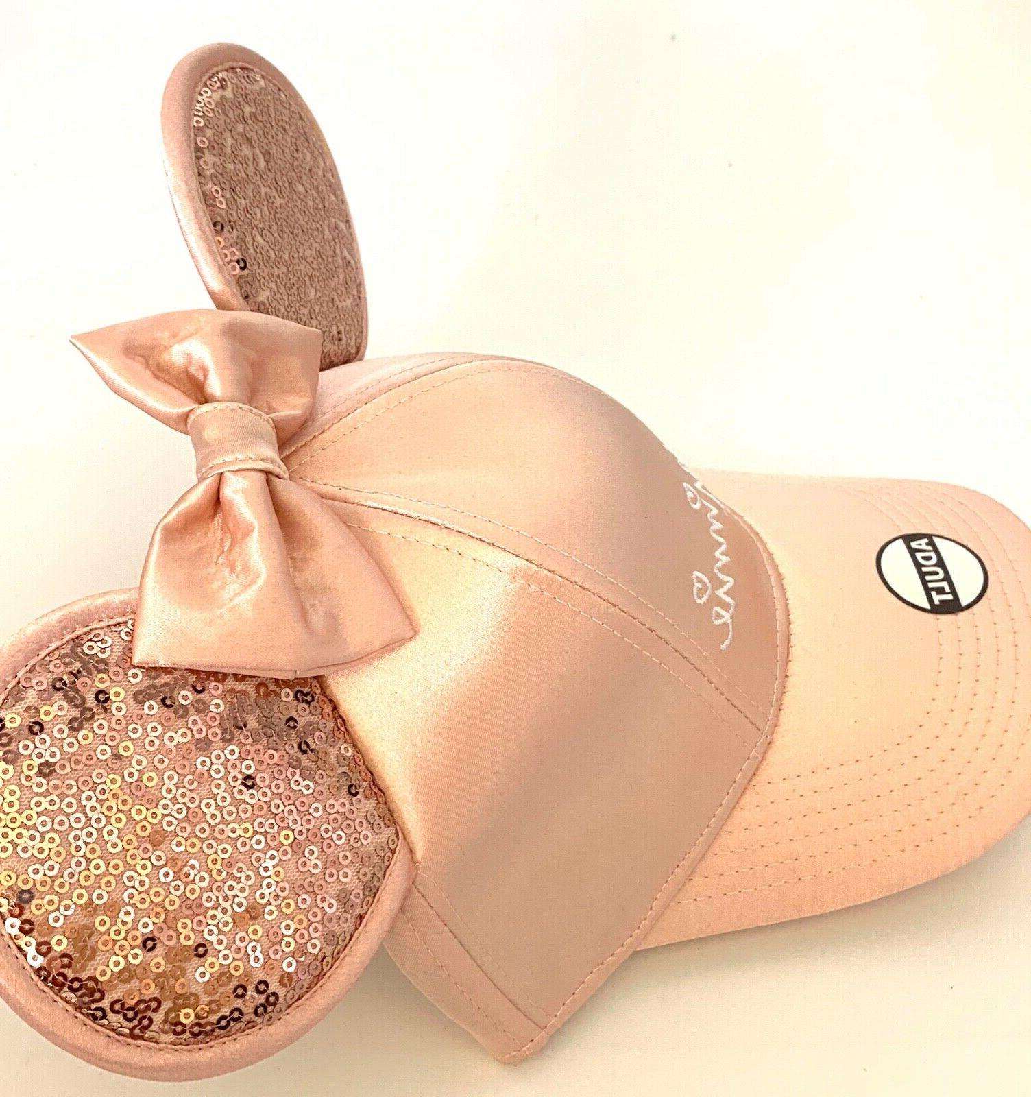 Disney Mouse with Ears Rose Gold Women's Hat