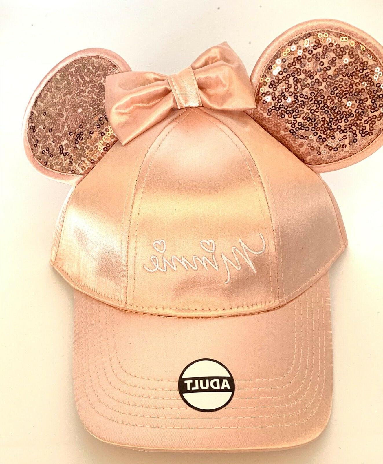 minnie mouse baseball with ears rose gold