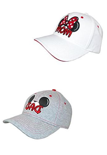 Disney Mom and Dad Fan Baseball Caps White/Grey