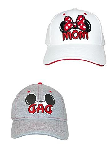 mom and dad fan baseball caps pack