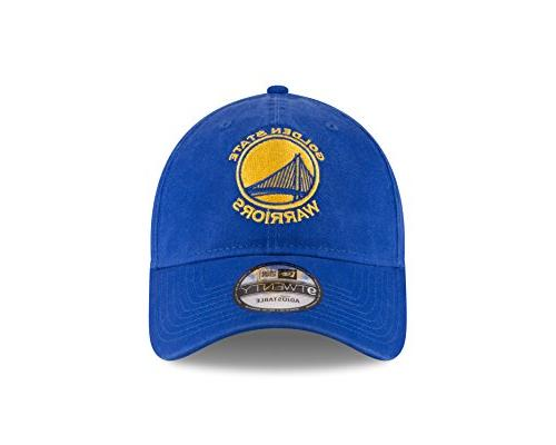 New NBA State Warriors Core Classic 9Twenty Adjustable Cap, One Size