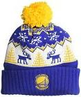ADIDAS NBA Reindeer Cuffed Pom Knit Golden State Warriors