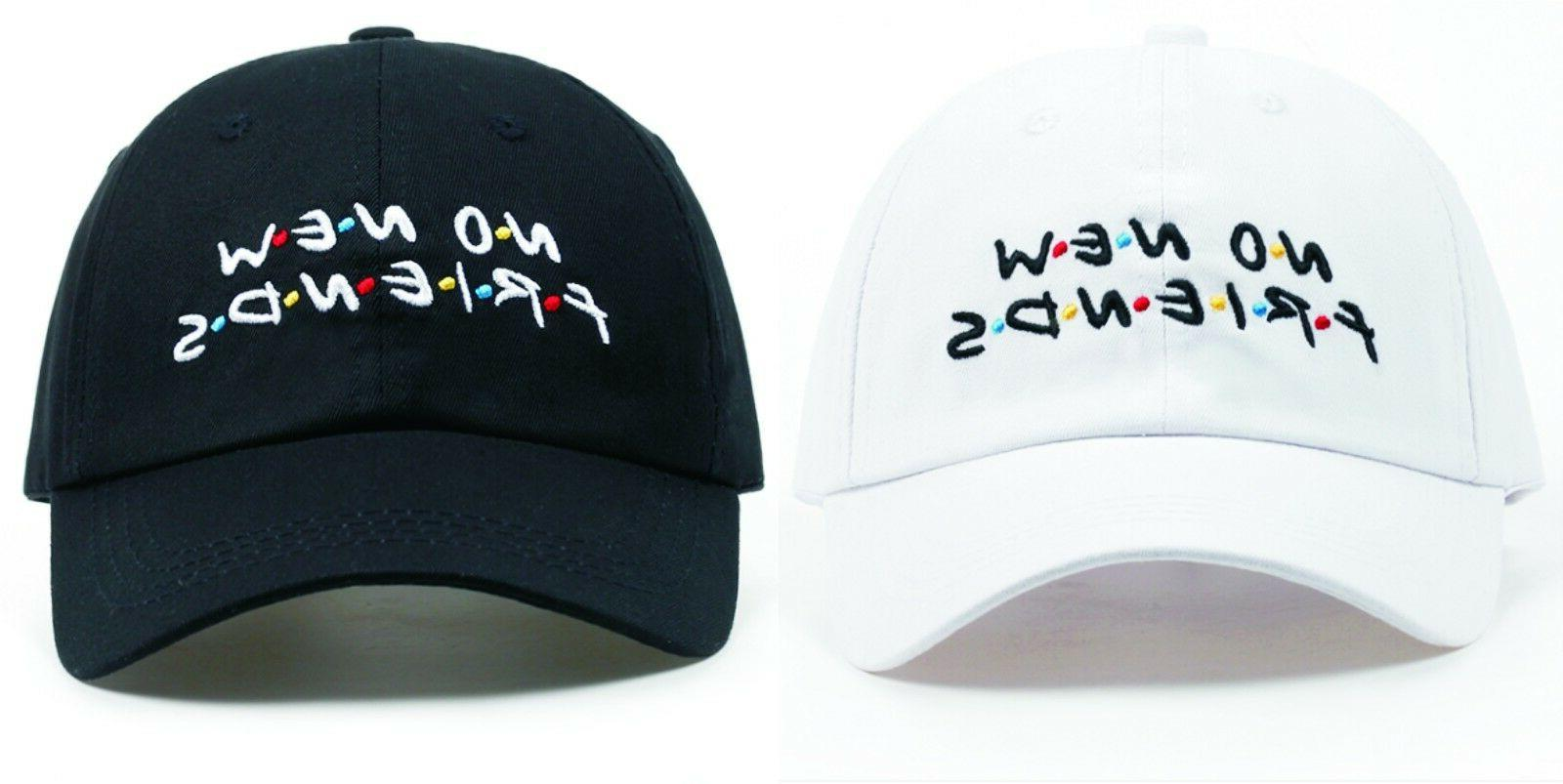 new no new friends embroidery dad hat