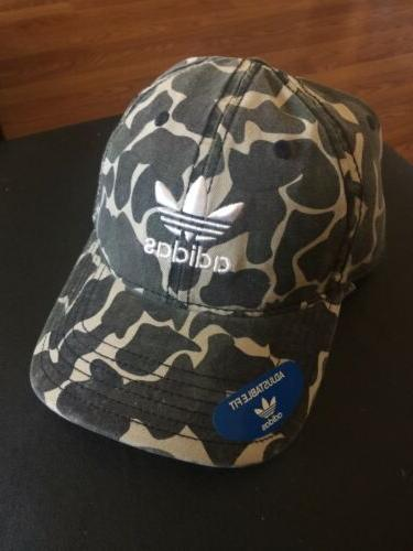 NEW ADIDAS ORIGINALS RELAXED ADJUSTABLE STRAPBACK CAMO HAT D