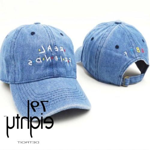 new real friends embroidered unstructured dad cap
