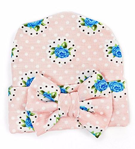 Ademoo Baby Girls Cap with Floral