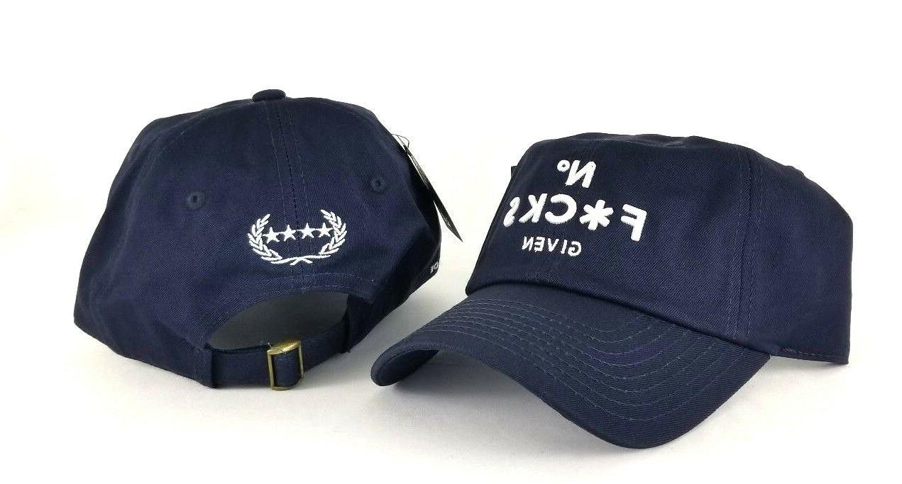 No F*CKS Given By Field Grade Navy with Snapback Strapback