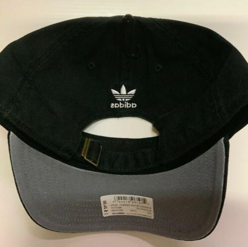 ADIDAS ORIGINALS Black Hat Relaxed Strapback Cap