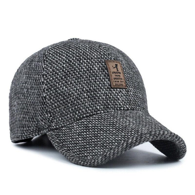 Plaid Cap with Ear Winter Hats Dad AET5000MM
