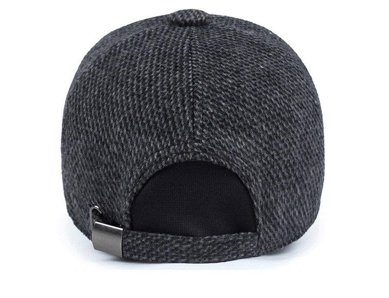Plaid Knitted Design Cap with Winter Hats Dad AET5000MM