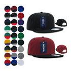 DECKY Flat Bill Snapback Baseball Plain Blank 6 Panel Two To