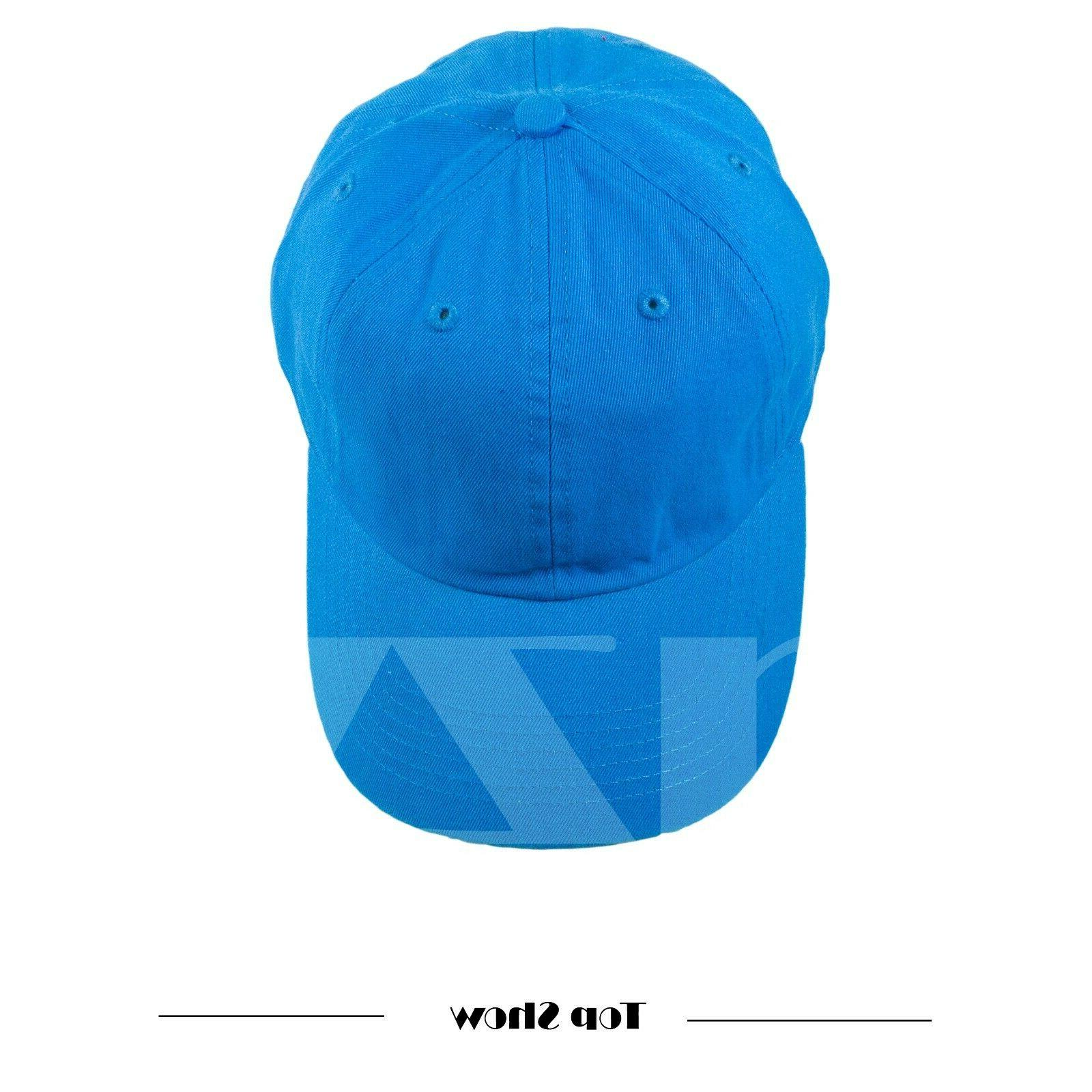 Polo Adjustable Solid Washed Cotton Hats Baseball Cap Mens